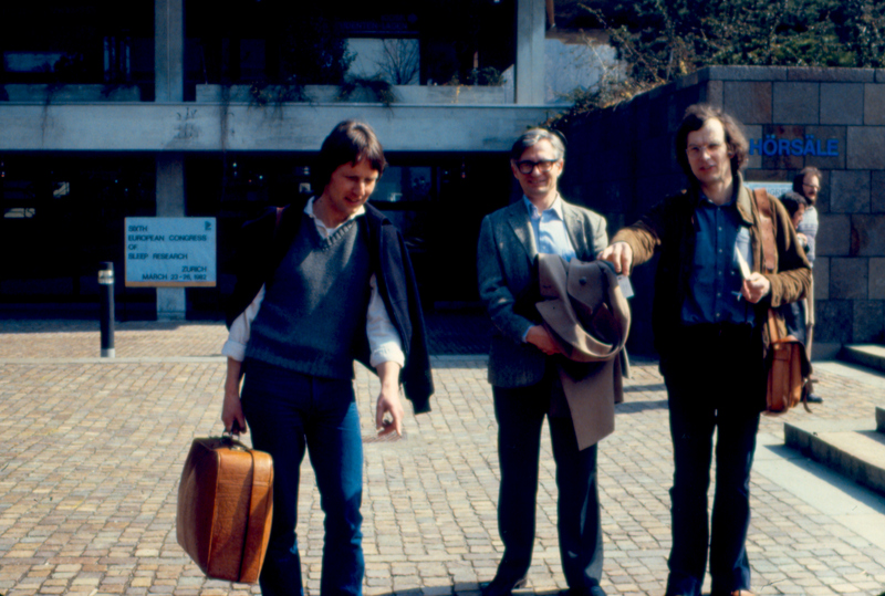 Jürgen Zulley, Chris Gillin, Reimer Lund (6th ESRS Congress, Zurich, 1982)