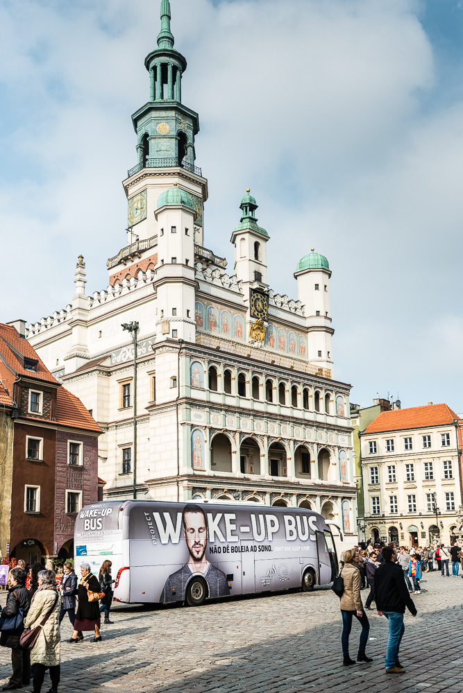 ESRS Wake-Up Bus at the Town Hall of Poznan