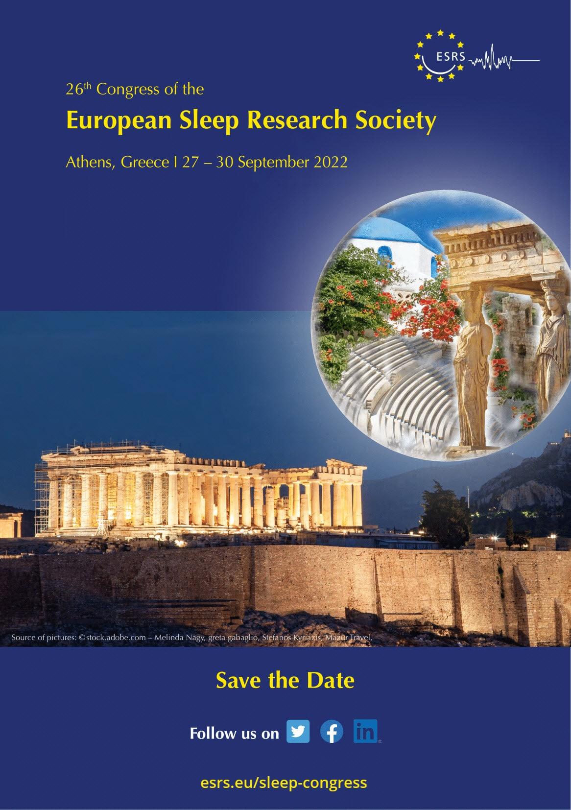 esrs sleep europe 2022 congress event poster
